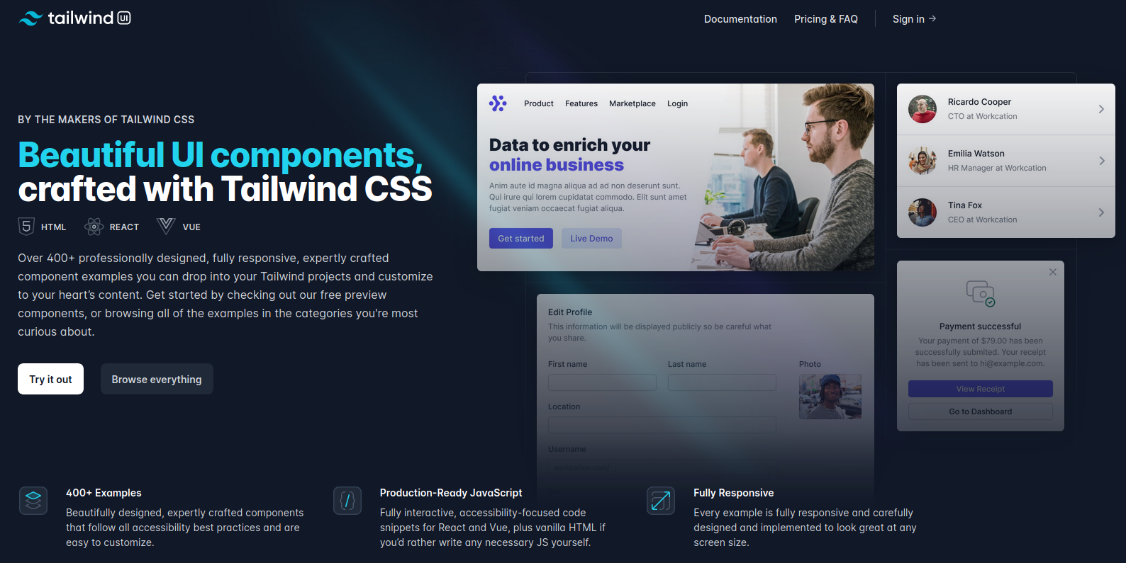 10 Tailwind CSS Components That You Can Use To Get Started Quickly